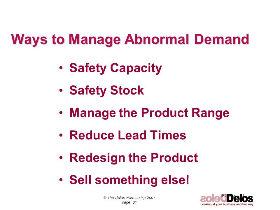 Ways to Manage Abnormal Demand