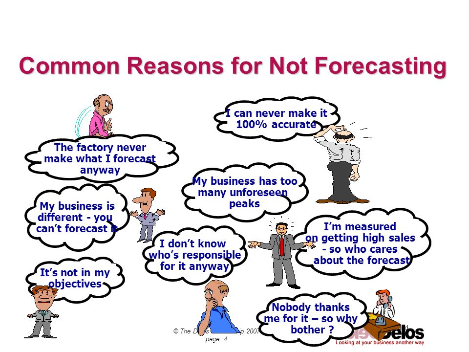 Common Reasons for Not Forecasting