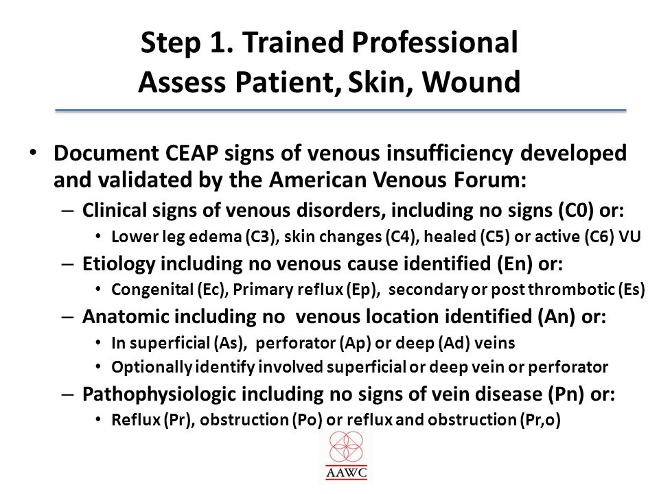 Step 1. Trained Professional Assess Patient, Skin, Wound