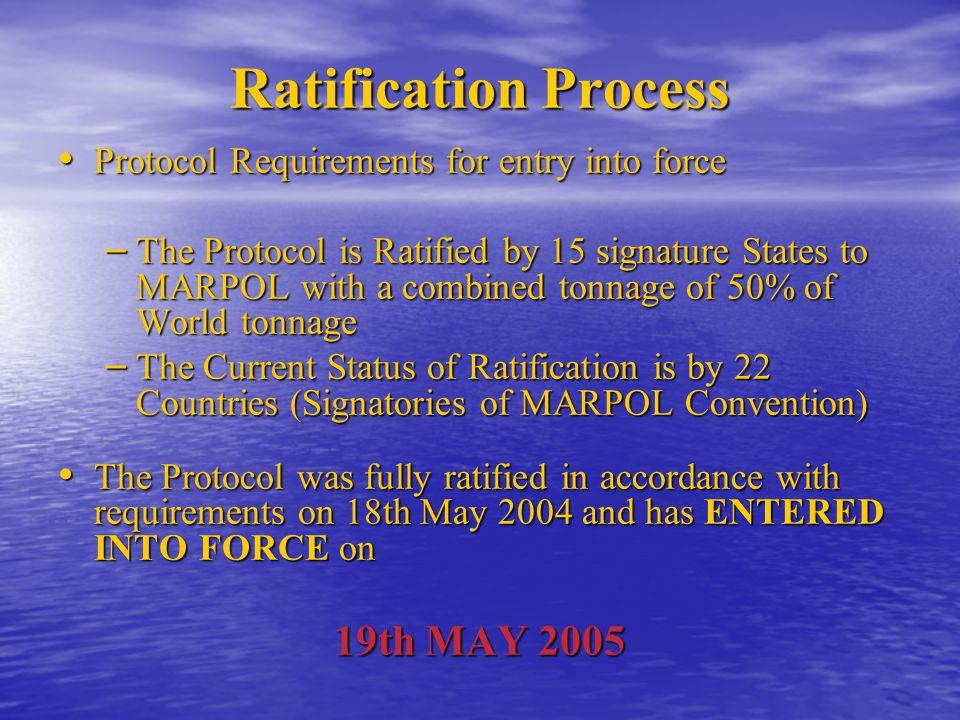 Ratification Process 19th MAY 2005