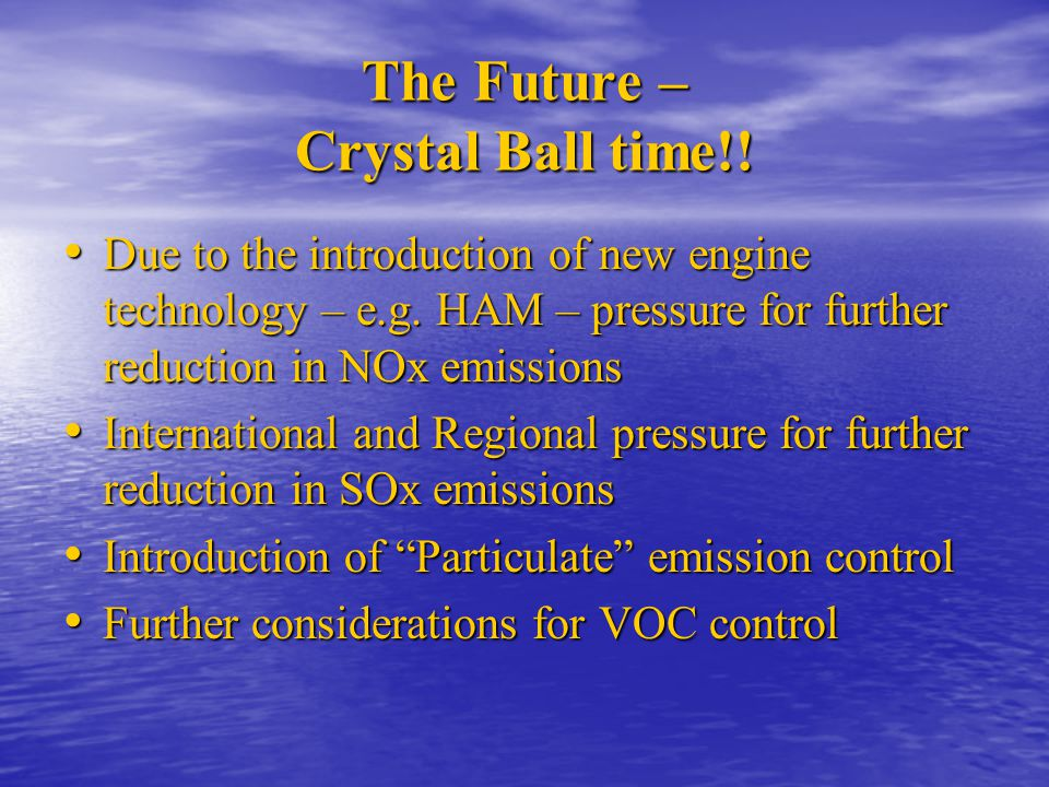 The Future – Crystal Ball time!!