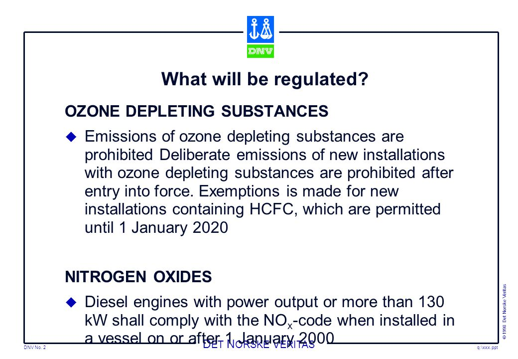 What will be regulated OZONE DEPLETING SUBSTANCES