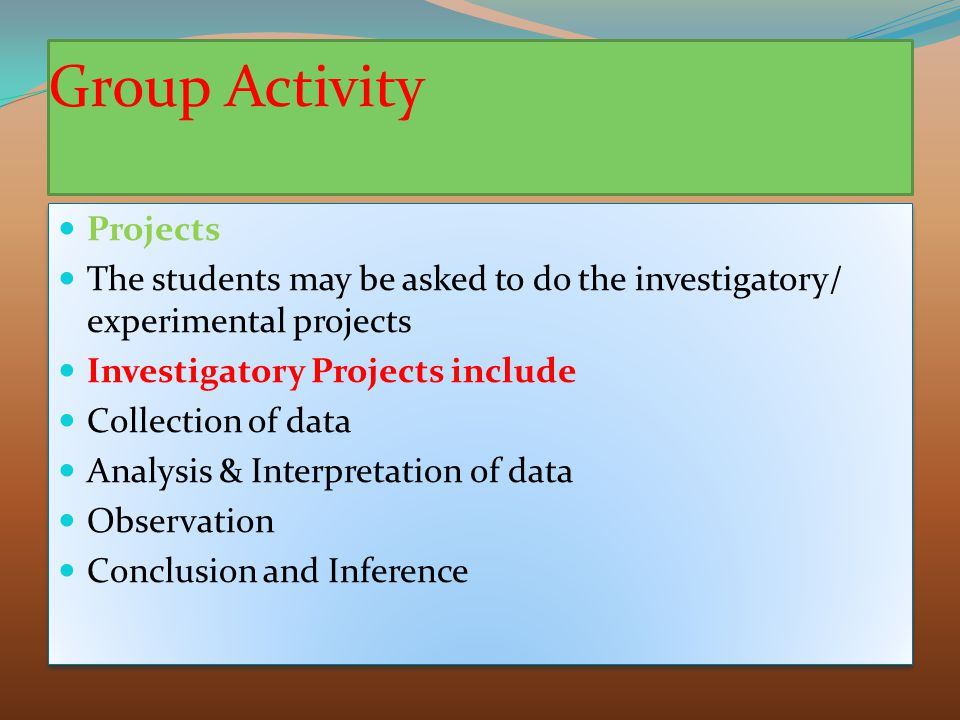 Group Activity Projects
