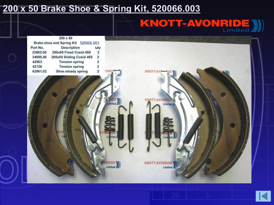 200 x 50 Brake Shoe & Spring Kit, 520066.003