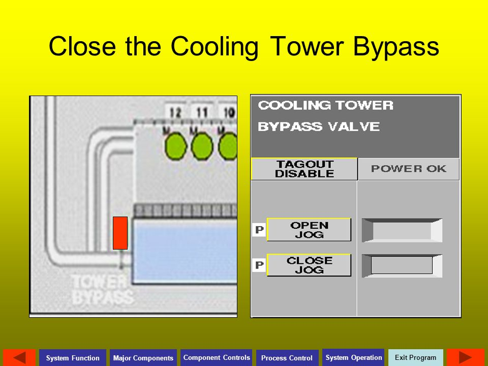 Close the Cooling Tower Bypass