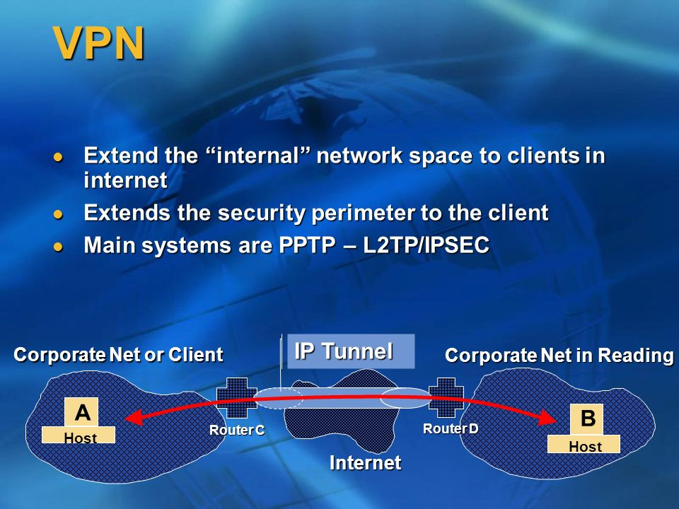VPN Extend the internal network space to clients in internet