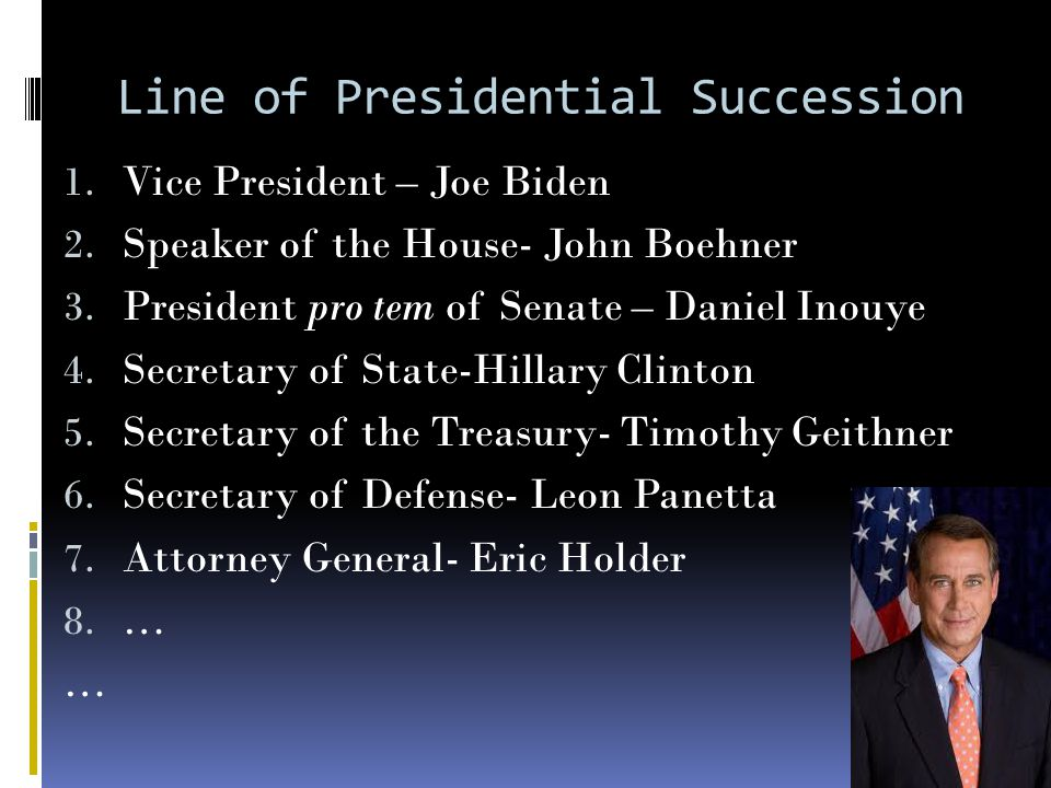 Line of Presidential Succession