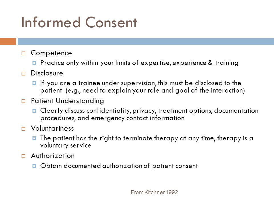 Informed Consent Competence Disclosure Patient Understanding