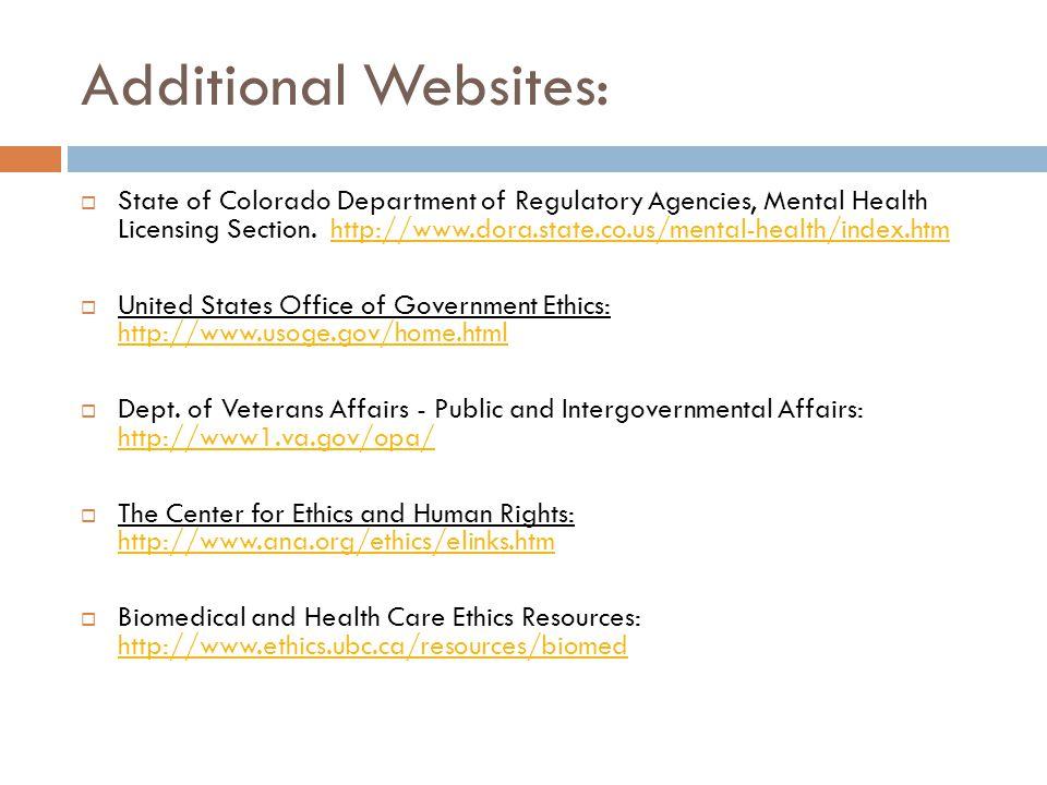 Additional Websites: