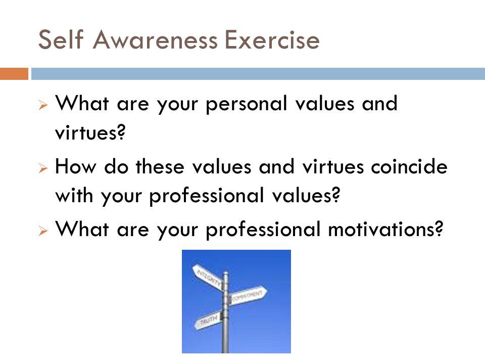Self Awareness Exercise