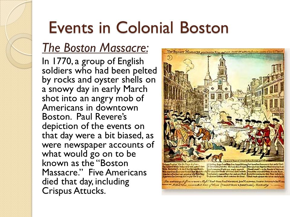 Events in Colonial Boston
