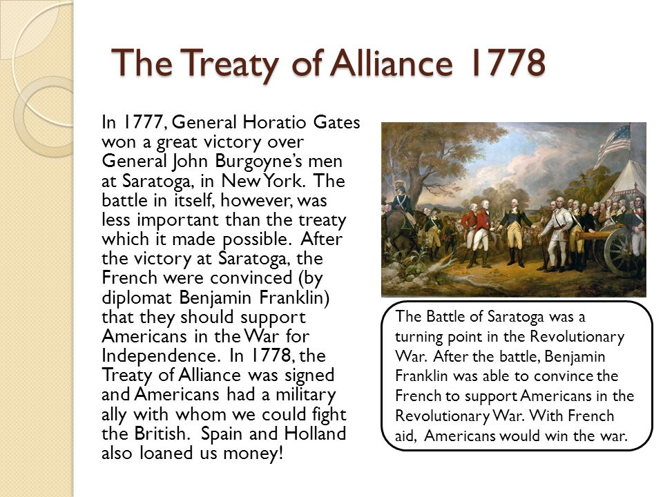 The Treaty of Alliance 1778