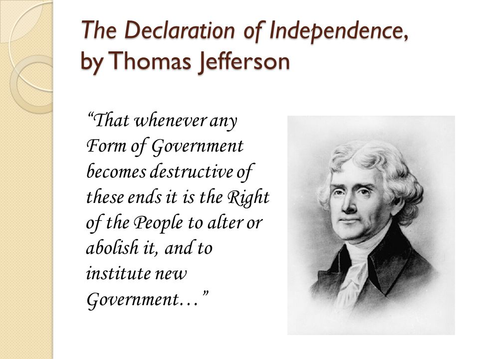The Declaration of Independence, by Thomas Jefferson