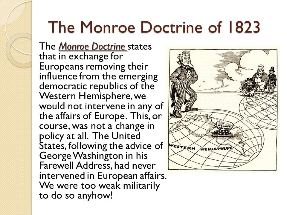 The Monroe Doctrine of 1823