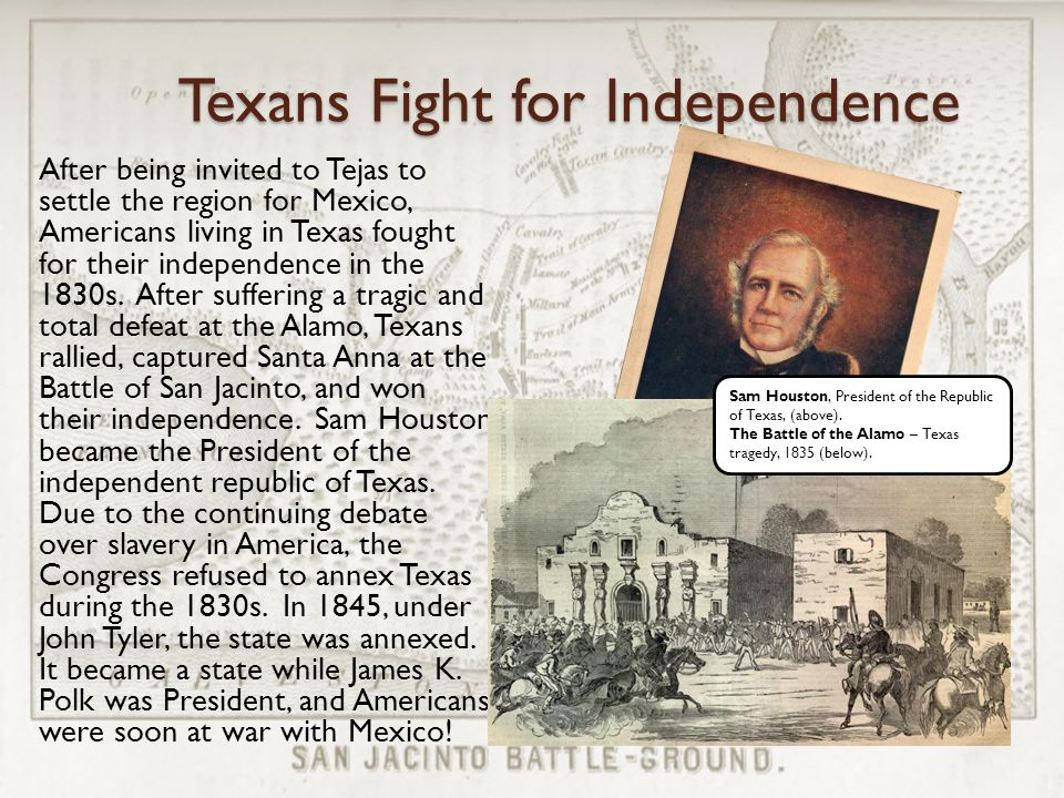 Texans Fight for Independence