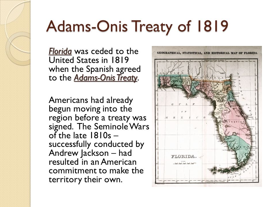 Adams-Onis Treaty of 1819