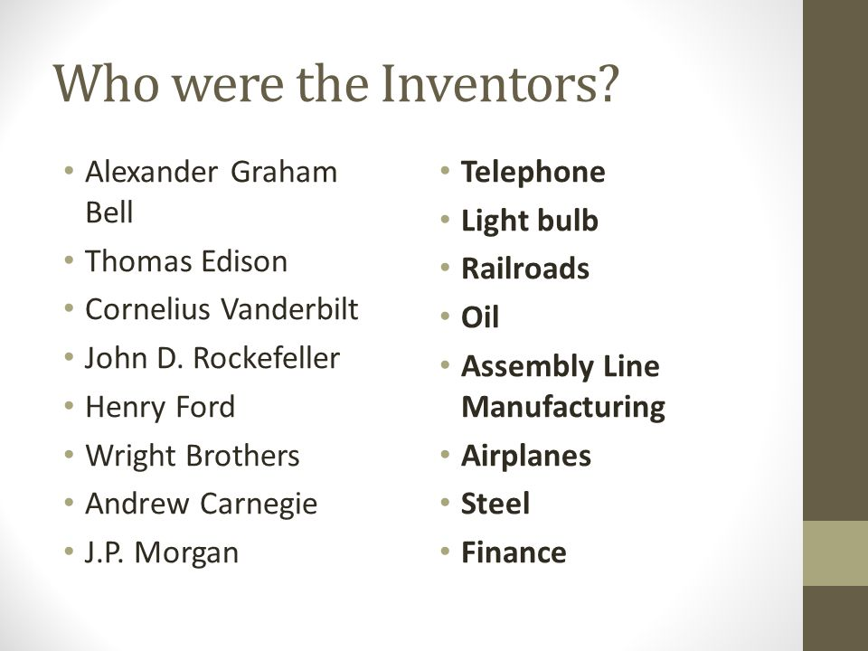 Who were the Inventors Alexander Graham Bell Thomas Edison