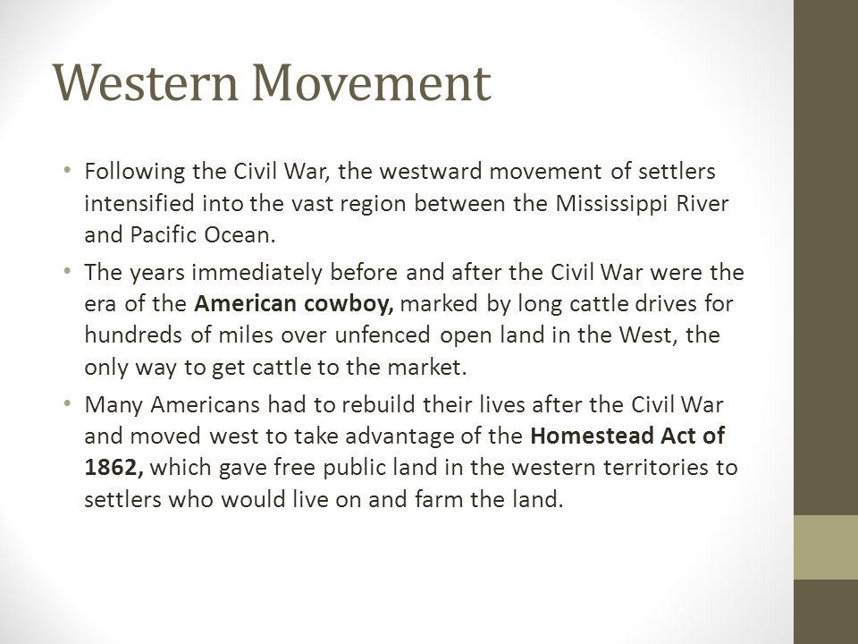 Western Movement