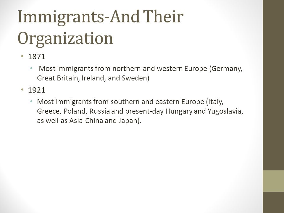 Immigrants-And Their Organization