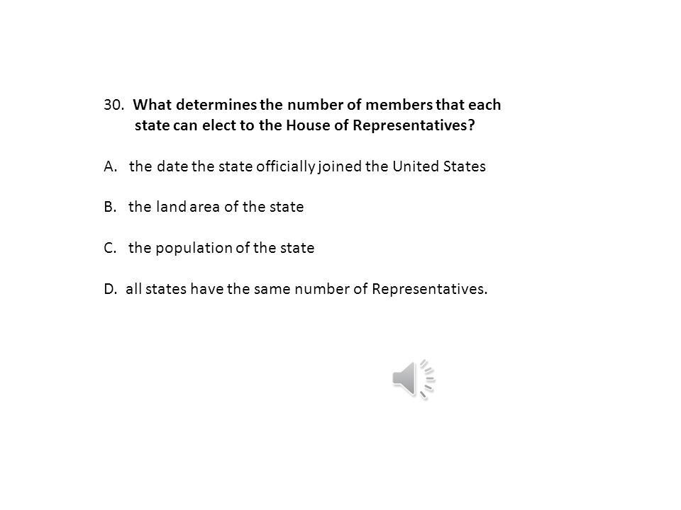 What determines the number of members that each