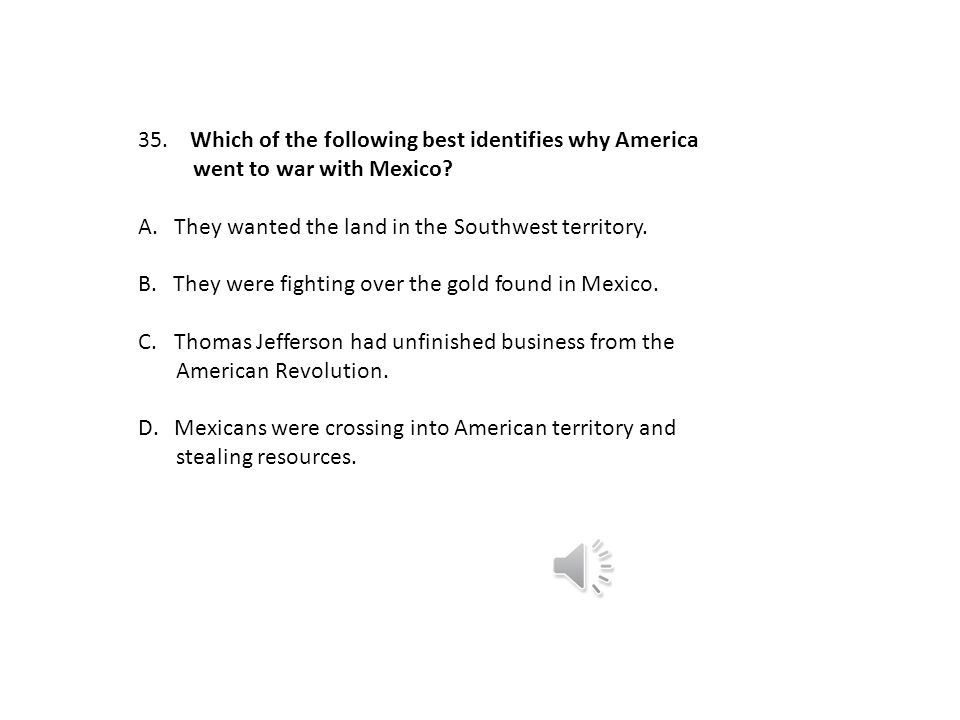 Which of the following best identifies why America