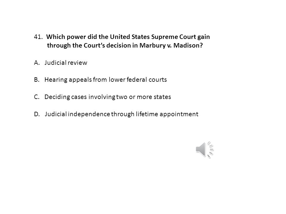 Which power did the United States Supreme Court gain