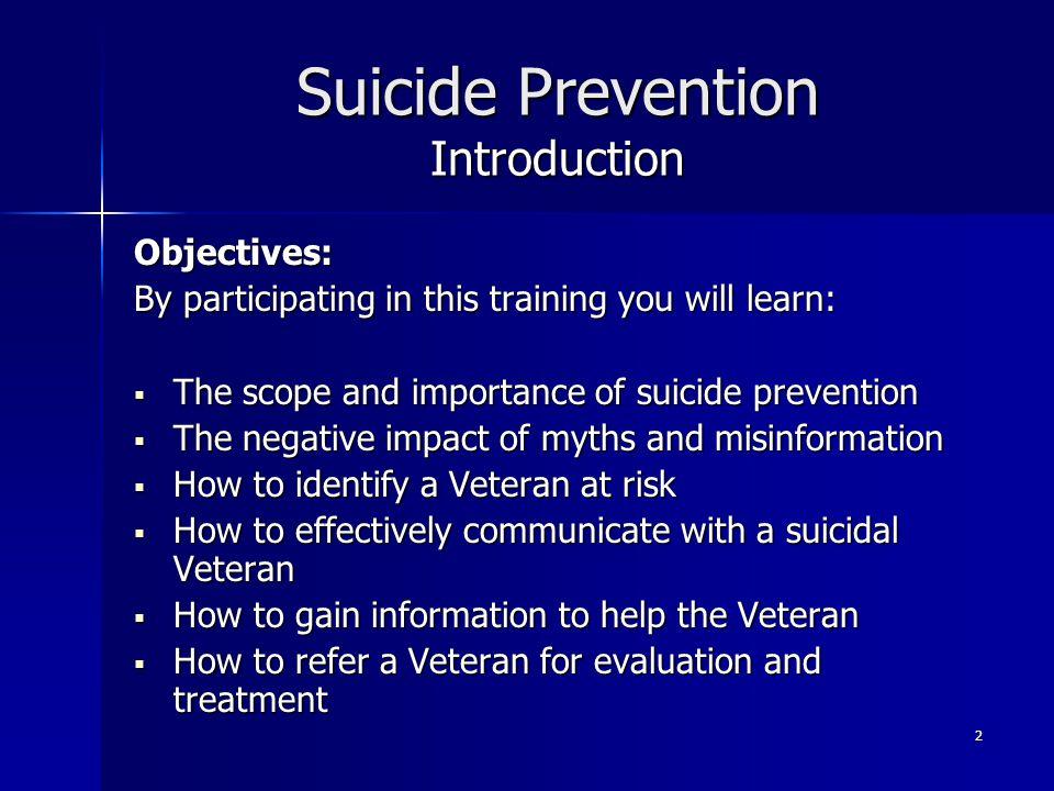 Suicide Prevention Introduction