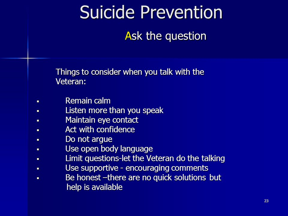 Suicide Prevention Ask the question