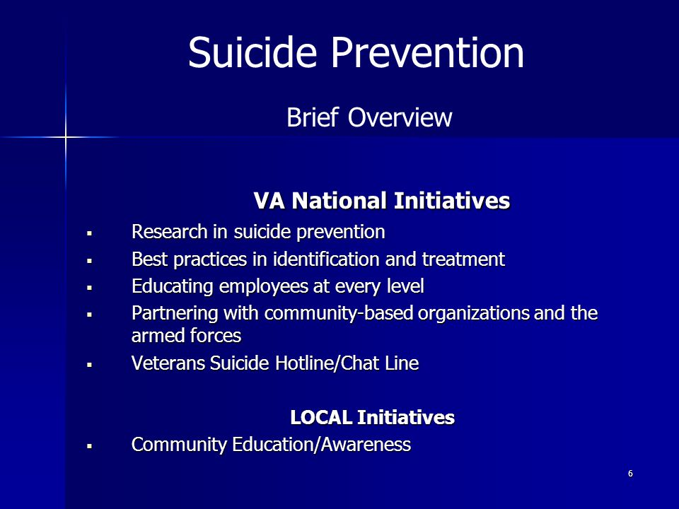 VA National Initiatives