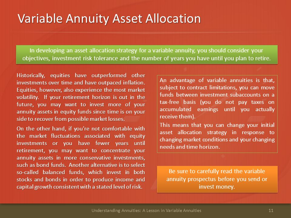 Variable Annuity Asset Allocation