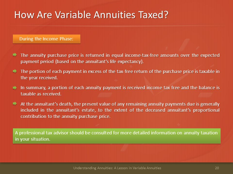 How Are Variable Annuities Taxed