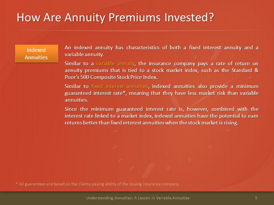 How Are Annuity Premiums Invested