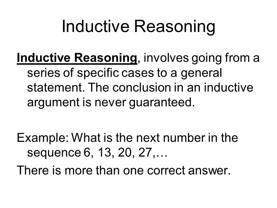 an introduction to the analysis of deductive reasoning This section explains the importance of understanding the scientific method  deductive reasoning skills are useful in  can be applied to dna analysis,.