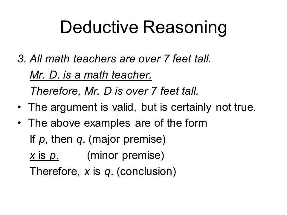 the importance of deductive reasoning essay Read this essay on deductive thinking 2014 dequilah brandon the importance of deductive reasoning whenever making a decision.