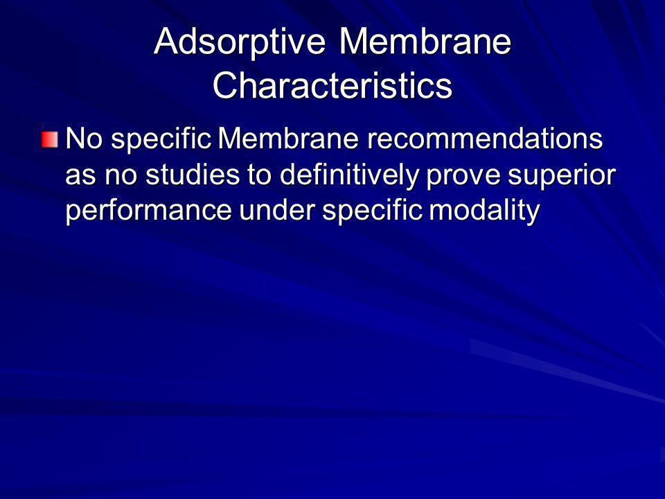 Adsorptive Membrane Characteristics