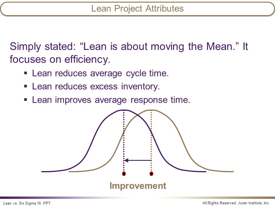 Lean Project Attributes
