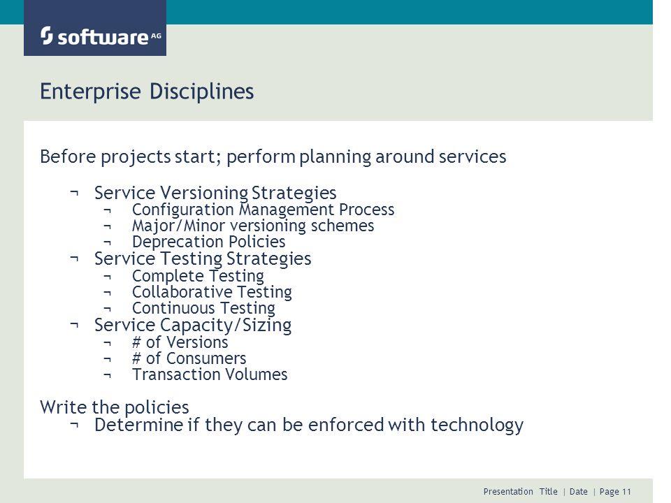 Enterprise Disciplines