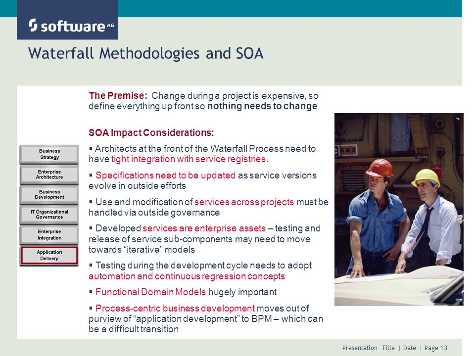 Waterfall Methodologies and SOA