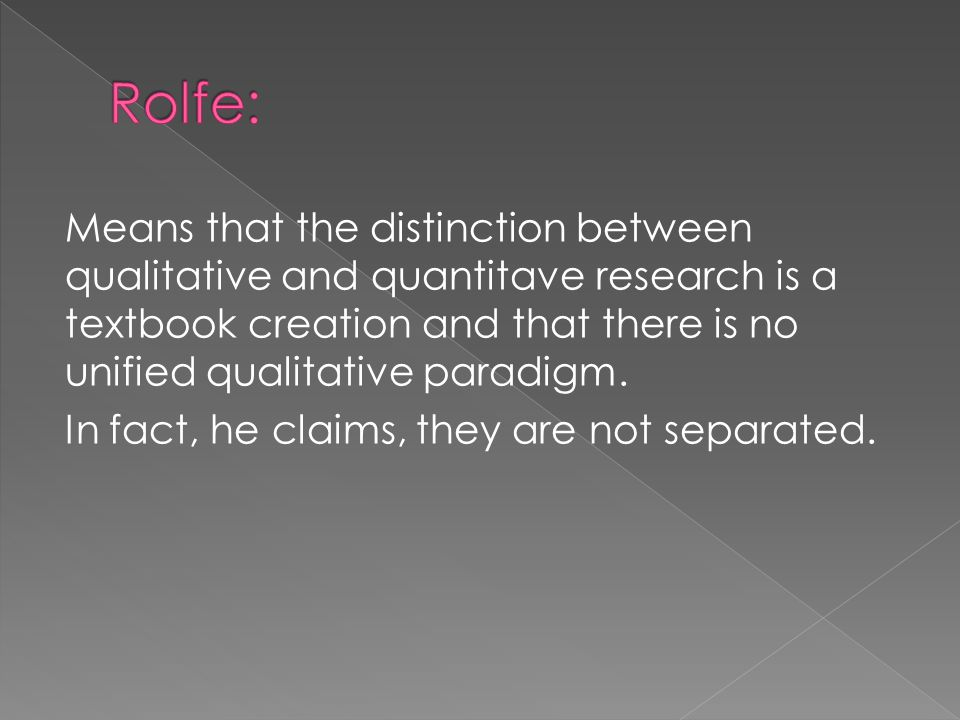 Rolfe: