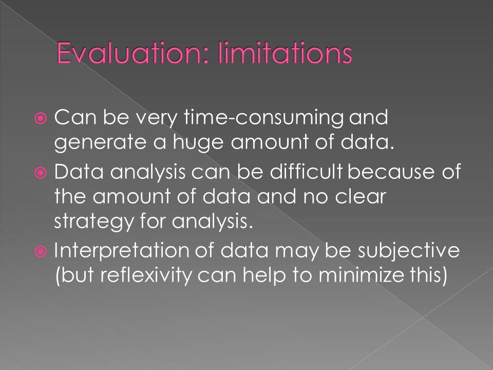 Evaluation: limitations
