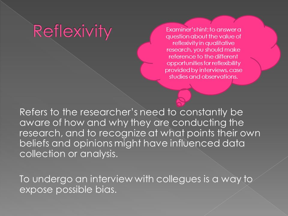 how to write reflexivity in qualitative research
