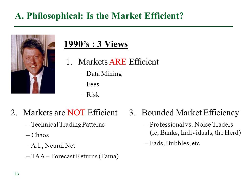 A. Philosophical: Is the Market Efficient