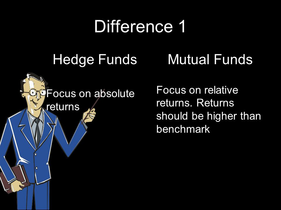 Difference 1 Hedge Funds Mutual Funds