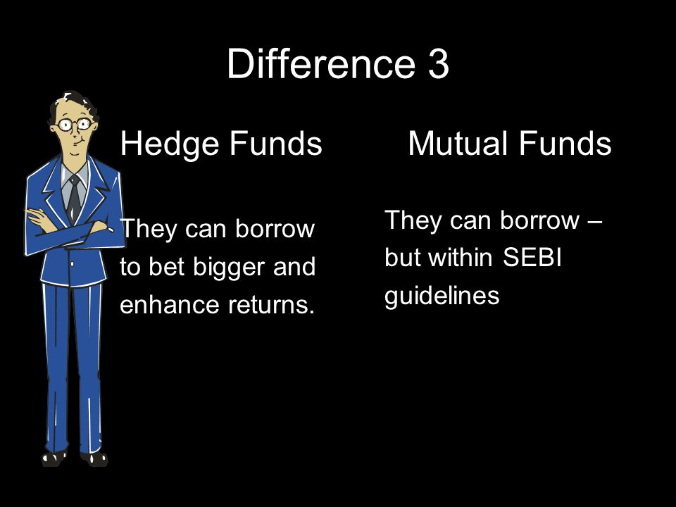 Difference 3 Hedge Funds Mutual Funds