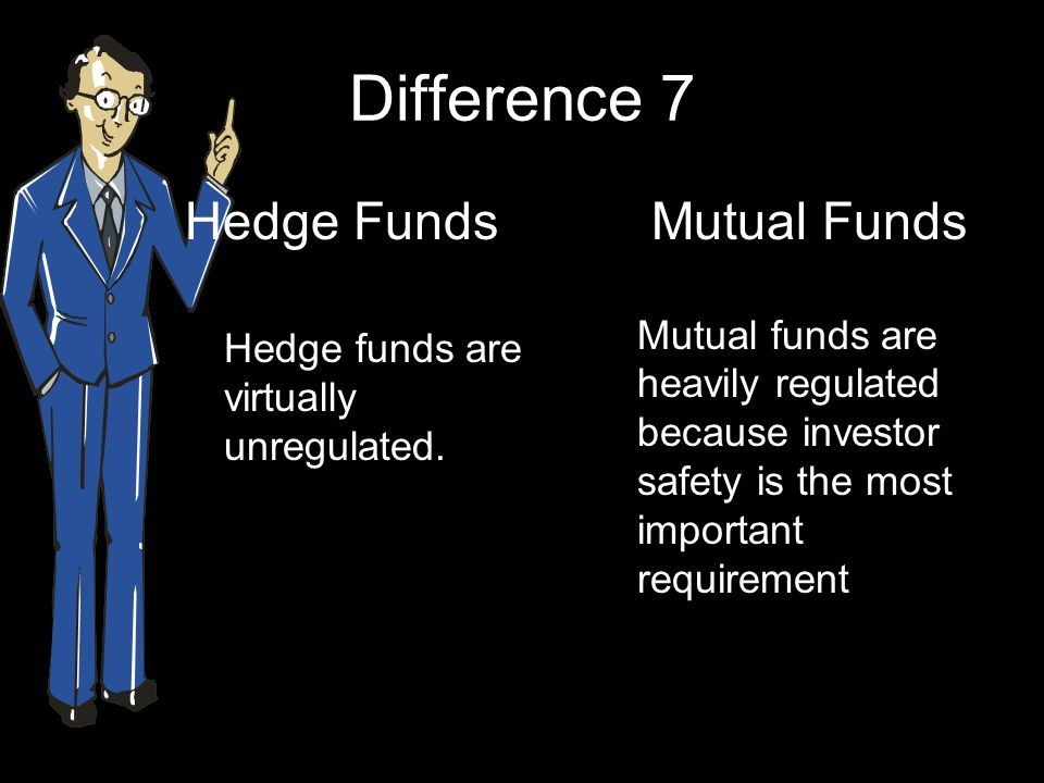 Difference 7 Hedge Funds Mutual Funds
