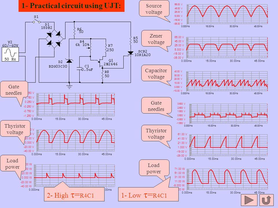 1- Practical circuit using UJT: