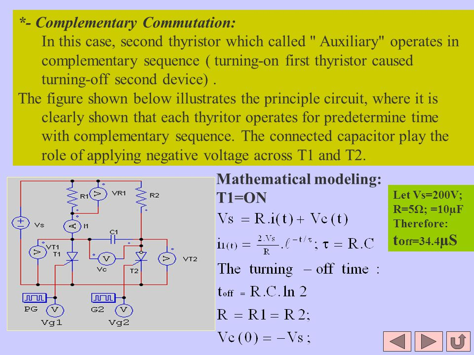 *- Complementary Commutation: