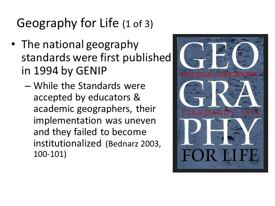 Geography for Life (1 of 3)
