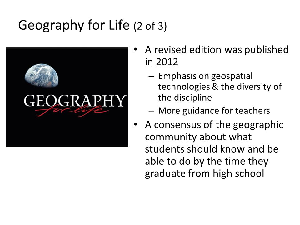 Geography for Life (2 of 3)