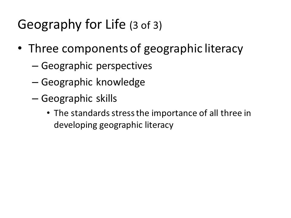 Geography for Life (3 of 3)